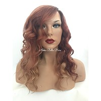 Rose Blond Ombré Blond Remy Human Hair Full Lace Wig - Elise