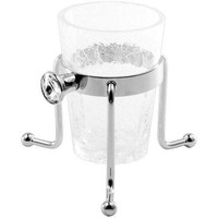 GM Luxury Brilla Crackled Glass Holder Standing Toothbrush Toothpaste Tumbler