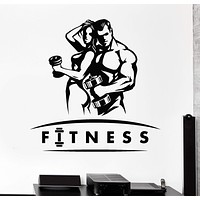 Vinyl Wall Decal Gym Sports Health Beautiful Body Fitness Coach Unique Gift (788ig)