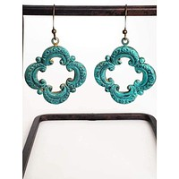 Clover Moroccan Patina Earrings
