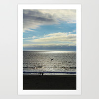 Black and White Seascape Art Print by Liveart4evr