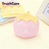 Autumn Winter Warm Cotton Baby Hat Cute Toddler Beanies Knitted Candy Color Caps For Children born Children Accessories