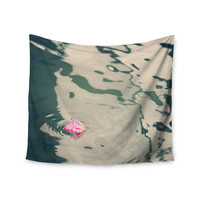 """Sylvia Coomes """"Venetian Rose"""" Blue Pink Wall Tapestry"""