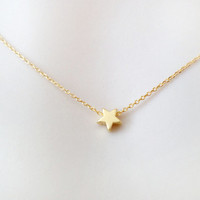 Tiny, star, necklace, mini, star, necklace, gold/ silver, necklace, small, dainty, star jewelry, minimal, subtle, simple, modern, cute