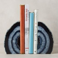 Hand-Cut Agate Bookends by Anthropologie
