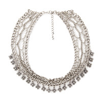 FOREVER 21 Etched Floral Chain Necklace Burn.S One