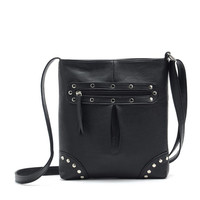 Leather Rivets Crossbody Bag
