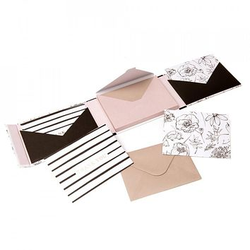 Black and White Floral Notecard Set