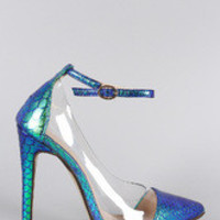 Women's Liliana Holographic Mermaid Lucite Pump