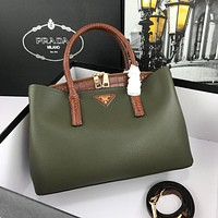 Prada Women Shoulder Bag Soft Leather TopHandle Bags Ladies Tote Handbag Designer Handbags