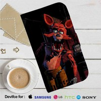Foxy Five Nights at Freddy's Leather Wallet iPhone 4/4S 5S/C 6/6S Plus 7| Samsung Galaxy S4 S5 S6 S7 NOTE 3 4 5| LG G2 G3 G4| MOTOROLA MOTO X X2 NEXUS 6| SONY Z3 Z4 MINI| HTC ONE X M7 M8 M9 CASE