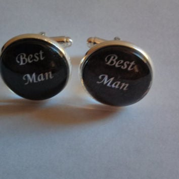 Best Man Cufflinks - Best Man Gifts - Wedding Cufflinks - Groomsmen - Personalized - Wedding Party Gifts - Bridal Party Gifts - Cuff links