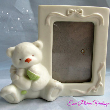 Russ Berrie Baby Bear Picture Frame Desktop Style