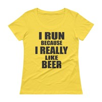 I Run Because I Really Like Beer Funny Running Shirt