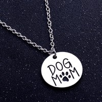 Dog Mom Paws Charm Necklace