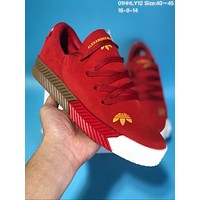 KUYOU A278 Adidas x Alexander Wang Suede Thick Bottom Plate Shoes Red