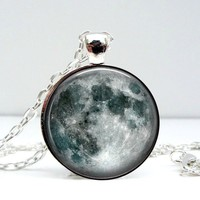 Moon Dome Pendant Necklace - Whimsical & Unique Gift Ideas for the Coolest Gift Givers