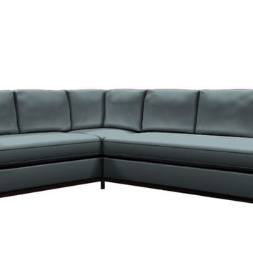 York Leather Chaise Sectional Sofa by Lazar Industries