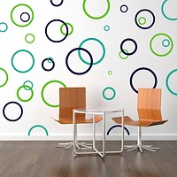 Rings & Dots Geometric Wall Decals
