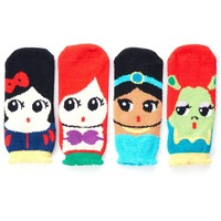 Danischoice Cute Cartoon Character Sleeping Socks Princess Series (4 Pairs)