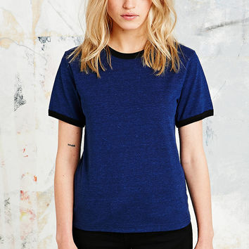 Cooperative Ringer Tee in Blue - Urban Outfitters