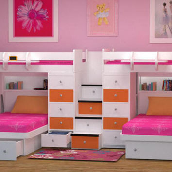 Spencer Stairway Bunk Beds for Four