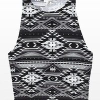 Printed Cropped Halter Tank