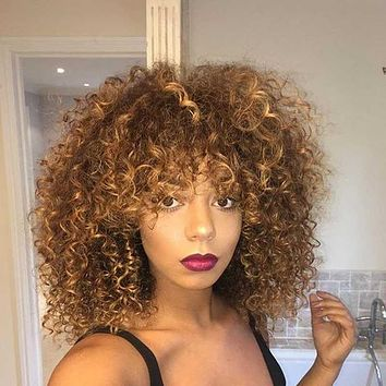 New style wig ladies small curly hair chemical fiber headgear