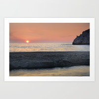 Last Minute At The Beach. At Sunset by Guido Montañés