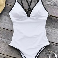 Cupshe As White As Snow One-piece Swimsuit