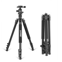 Zomei Q555 professional aluminum flexible camera tripod stand with  ball head for DSLR  cameras portable
