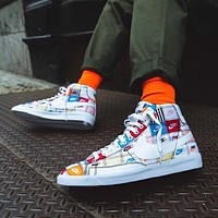 Nike Blazer Mid Patchwork patchwork graffiti pioneer casual canvas shoes
