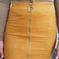 Take Your Sweet Time Skirt: Mustard