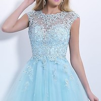 Blush Babydoll Homecoming Dress