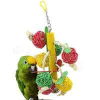 Pet Toys Parrot Toy Bird Bell Ball For Parakeet Cockatiel Chew Fun Cage New