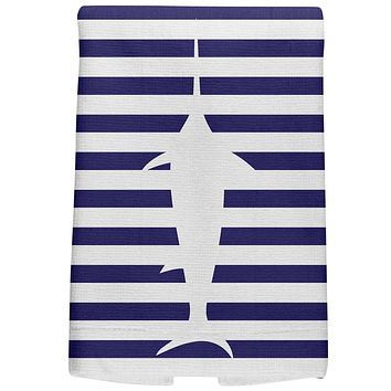 Swordfish Nautical Stripes All Over Hand Towel