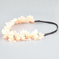 Full Tilt Chiffon Flower Headband Peach One Size For Women 21998770601