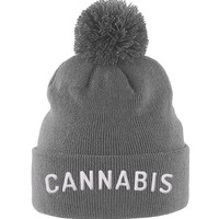 Cannabis Embroidered Beanie - CannaCaps Original