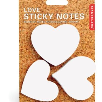 Kikkerland Love Heart Shaped Sticky Notes (ST21)