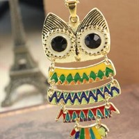 Multicolor owl necklace from Moonlightgirl