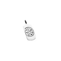 Create Magic For Life Sterling Silver Dog Tag Charm