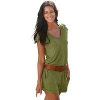 Relaxed Women's Cotton Rompers 6 Colors