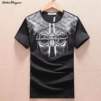 Salvatore Ferragamo Fashion Casual Shirt Top Tee-13