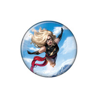 Ms. Marvel In The Sky Button