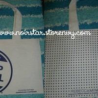 FREE WITH $15 PURCHASE Rebecca Minkoff Small Business Saturday Reusable Tote Bag Polka Dots Canvas