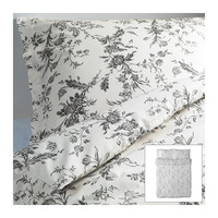 ALVINE KVIST Duvet cover and pillowcase(s) - white/gray - Full/Queen (Double/Queen) - IKEA