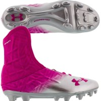 Under Armour Men's Highlight Speed MC Football Cleat - Pink/Silver | DICK'S Sporting Goods