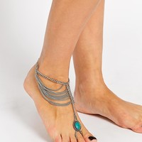 ASOS Mystical Stone & Chain Foot Harness