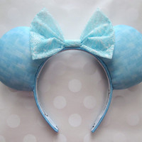 Queen Elsa Inspired Mouse Ears Headband, Custom Ears