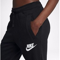 Nike Fashion Casual Sports pants for men and women Black G